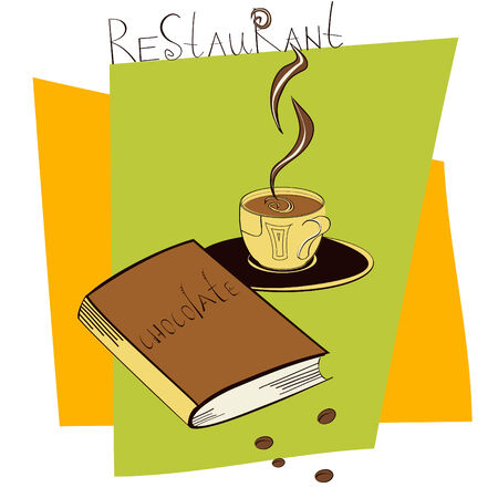 turkish dessert: A cup of coffee with book