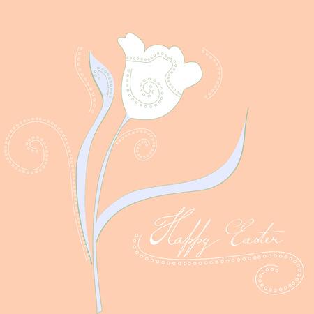 pasqua: Decorative card with stylized tulips