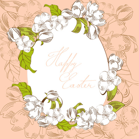 pasch:  Easter egg with floral elements