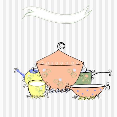 steel pan: Equipo de cocina  Vectores