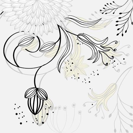 Template for decorative card Stock Vector - 6548540