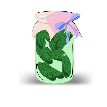 conserved: Cucumbers in jar