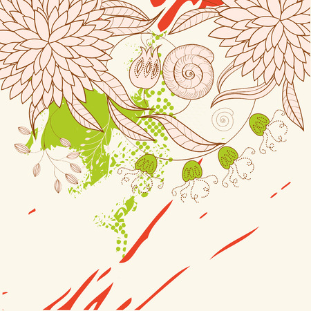 Template for greeting card with floral ornament Stock Vector - 6548322