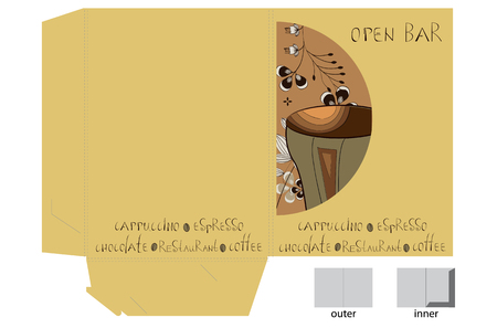 coffee bag: Template for decorative bag