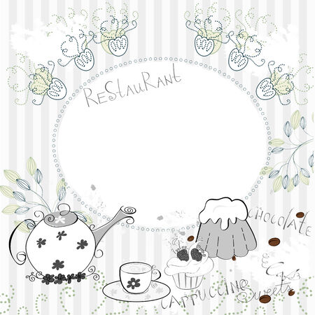 stand teapot: Template for restaurant design set2