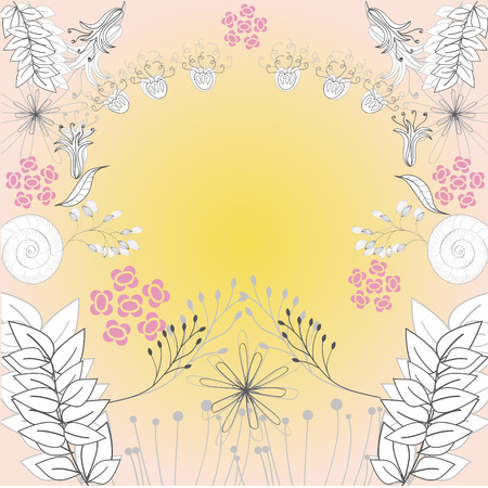 Template for decorative card Stock Vector - 6548376