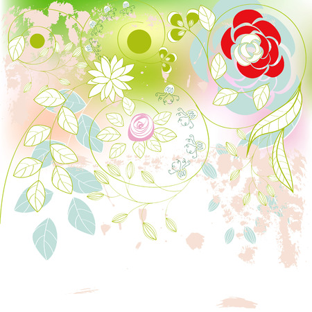 Romantic background with flowers Stock Vector - 6576738