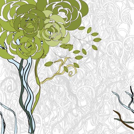 Green tree Stock Vector - 6576740