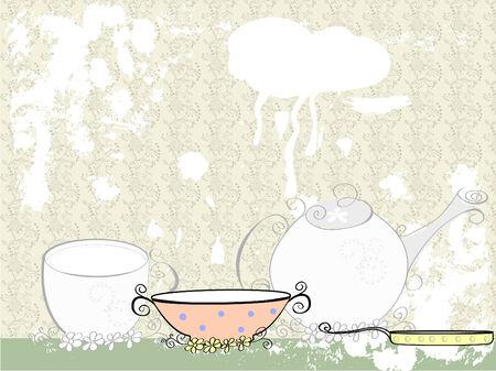 cookware: Sitio Web, plantilla de folleto con platos.