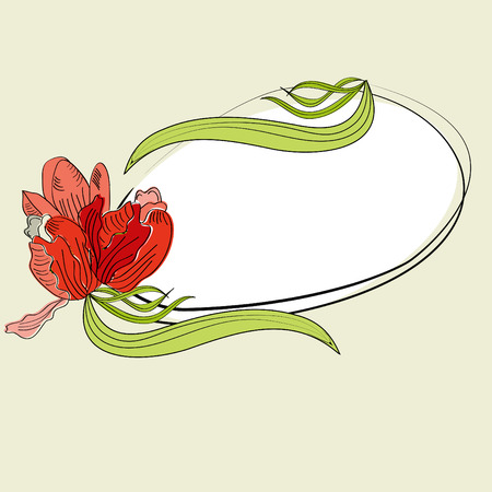 Greeting card with frame Vector