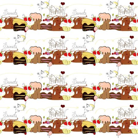 seamless pattern with sweets Stock Vector - 6659722