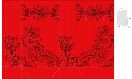 Template for decorative bag Stock Vector - 6659757