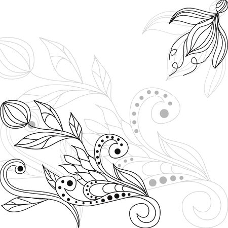 Floral background with decorative ornament Stock Vector - 6659720