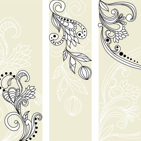 greeting vintage banners Vector