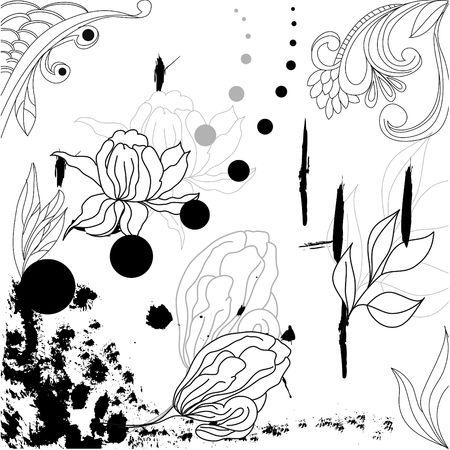 Grunge floral background Stock Vector - 6698613