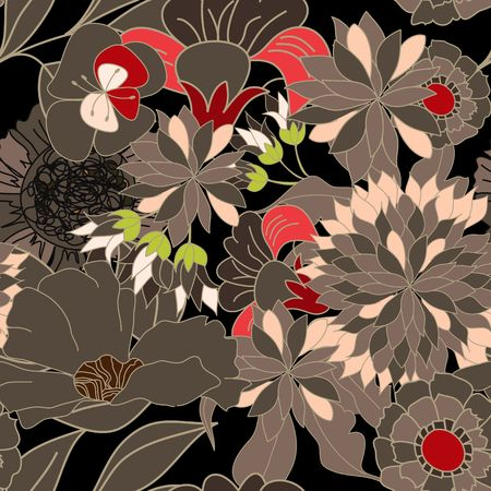 Floral seamless pattern Stock Vector - 6741820