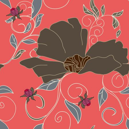 Summer floral seamless pattern Stock Vector - 6741807