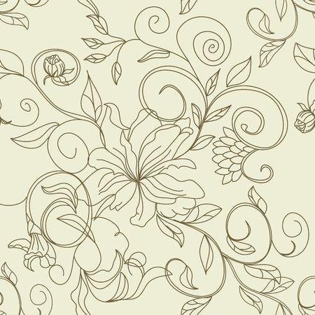 Retro stylized seamless pattern