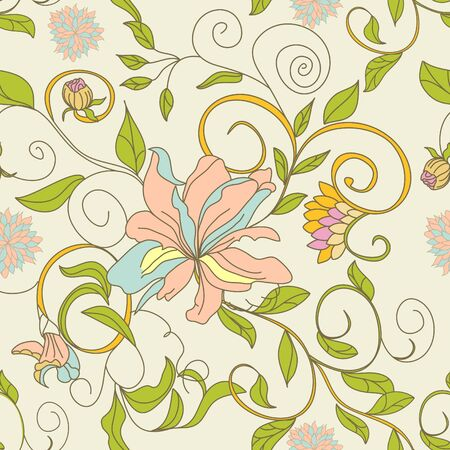 floral seamless wallpaper Stock Vector - 6741818