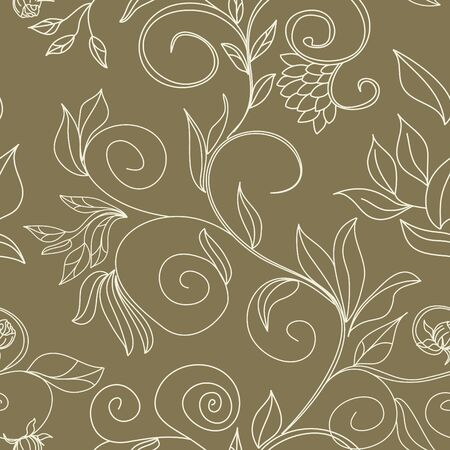 stylish colorful floral seamless wallpaper Vector