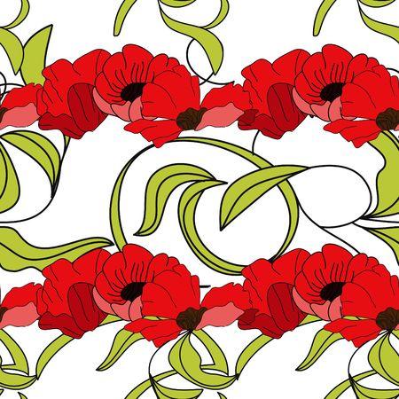Summer floral seamless wallpaper Vector
