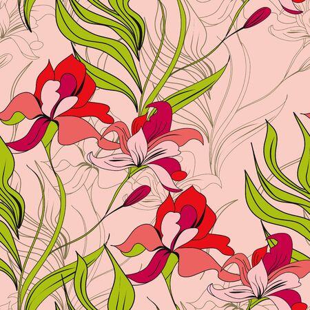 arte moderno: Patrón transparente de primavera