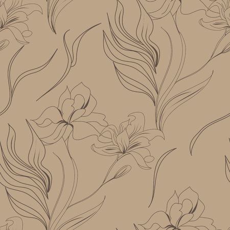 seamless wallpaper with lily flowers Stock Vector - 6781589