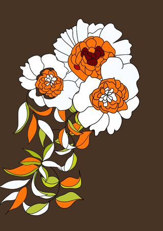 Original background with flowers Vector