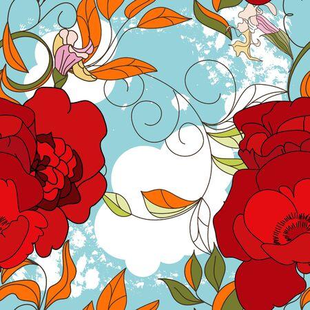 Colorful summer seamless wallpaper Vector