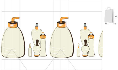 Template for bag Vector