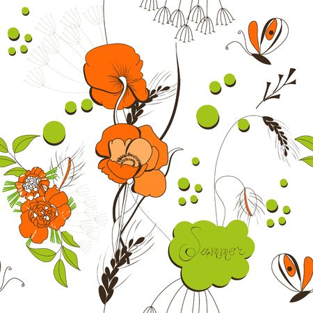 Summer seamless wallpaper Stock Vector - 6781676