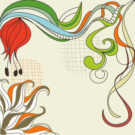 Colorful sketch  Vector