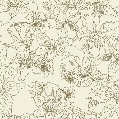 Summer seamless wallpaper Vector