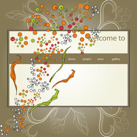 Original website design template Vector
