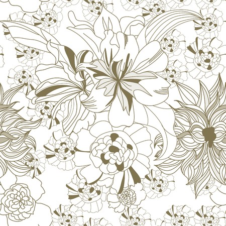 Floral seamless wallpaper Stock Vector - 6861714