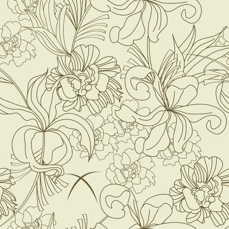 Summer seamless wallpaper Stock Vector - 6861767
