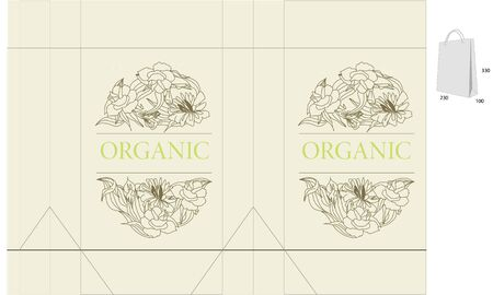 Template for decorative bag Vector