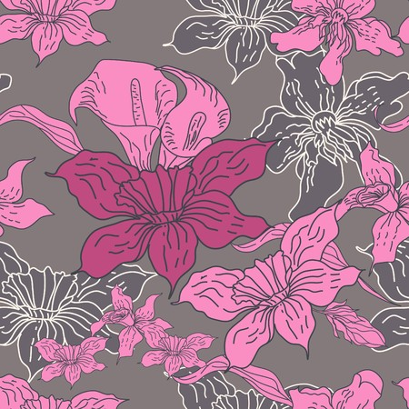 Seamless pattern with flowers Stock Vector - 6966878