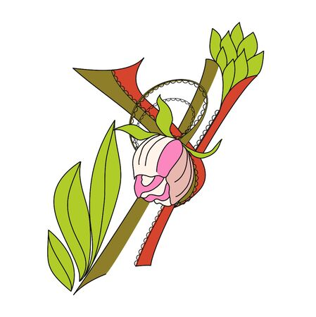 Floral font 2. Letter  Y Stock Vector - 6966939