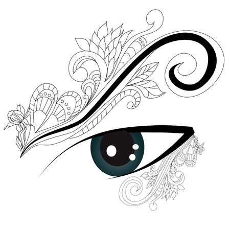 Decorative eye Stock Vector - 7025595