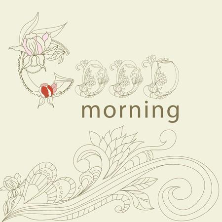 Good morning Stock Vector - 7025608