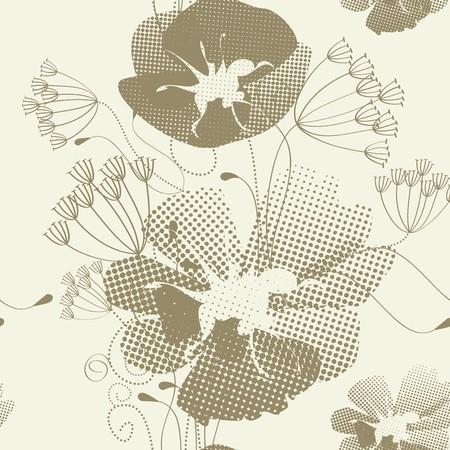 Romantic seamless pattern Illustration