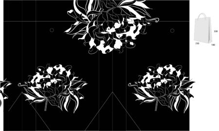 Template for bag design  Vector