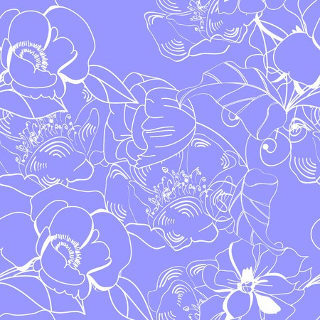 Floral seamless wallpaper Stock Vector - 7098153
