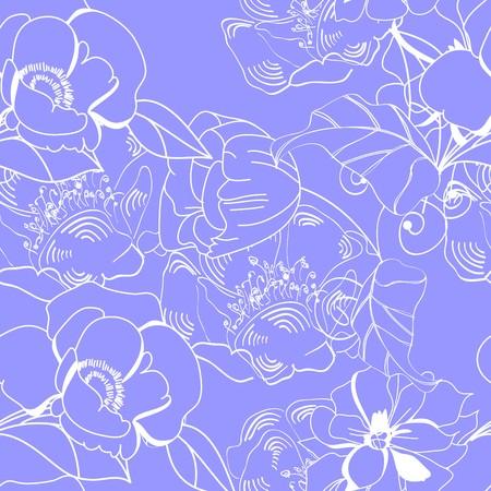 Floral seamless wallpaper Stock Vector - 7098153