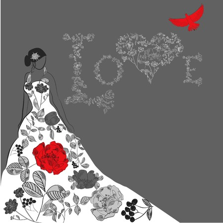 Template for wedding card Vector