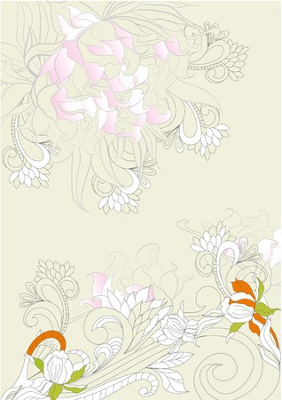 Background with floral ornament  Vector