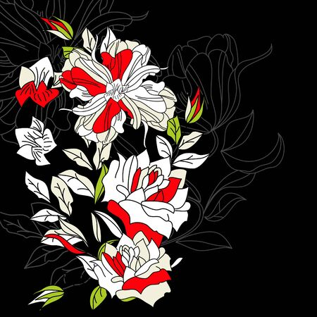 Colorful background with flowers Vector
