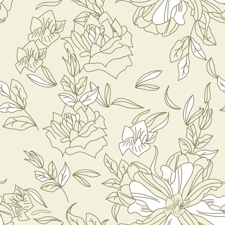 Seamless wallpaper with flowers Stock Vector - 7159482
