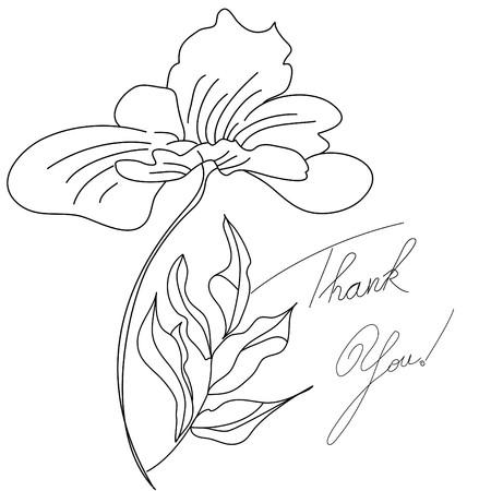 te: Tarjeta floral con inscripci�n gracias